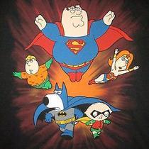 Family Guy Super Hero T Shirt Sz Xl Peter Griffin Stewie Lois Chirs Brian Fox Photo