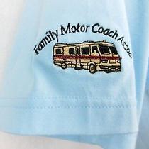 Family Motor Coach Assoc. Rv Shirt Sahara Blue Short Sleeve Mens Extra Large Xl  Photo