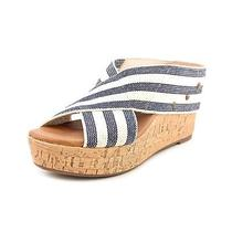Famous Name Brand Joie Womens Size 10 Ivory Textile Wedge Sandals Shoes Used Photo