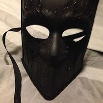 Fancy Black Venetian Mask - Full Faced - Masquerade Photo