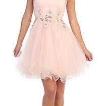 Fancy Cocktail Sleeveless Homecoming Dress Lace Bodiced Formal Prom Birthday Photo