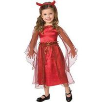 Fancy Devil Red Girls Toddler Dress Sz 2t Solid Rubie's Photo