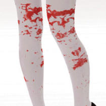 Fancy Dress Bloody Stained Blood Spattered Stockings Halloween One Size Photo