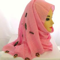 Fancy Hijab Headscharf Shawl Scarf Tuch Cotton Beads Shayla Eid 12 Pick Color Photo