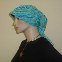 Fancy Hijab Scarf Chemo Hat Shawl Turban Bonnet Hejab Jilbab Abstrac Aquamarine Photo