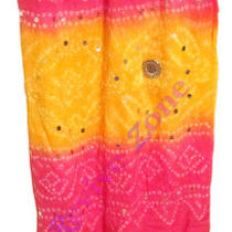 Fancy Soft & Warm Bandhej Stole Cotton Scarf Shawl Womens Indian Dupatta Scarves Photo