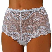 Fantasie Womens Lace Shorty Panties Knickers Brief Shorts White Sheer Large L Photo