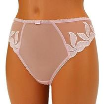 Fantasie Womens Lace Thong Panties String Knickers Sheer Rose Pink L Large Photo
