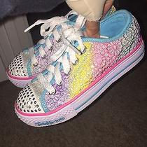 Fantastic Pair of Skechers Twinkle Toes Girl sz.13.5 Sneakers. Great Shape Photo
