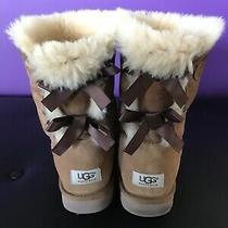 Fantastic Ugg Bailey Bow Ii Womens Chestnut Boots Sz 10 Eu 41  Photo