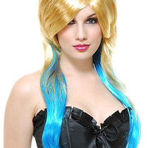 Fantasy Blonde & Blue Wig Photo