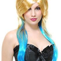 Fantasy Blonde & Blue Wig Photo
