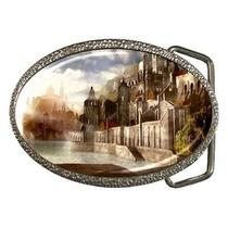 Fantasy Castles on Water Babylon City Belt Buckle Photo