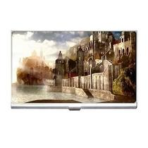 Fantasy Castles Water Babylon City Business Card Case Photo