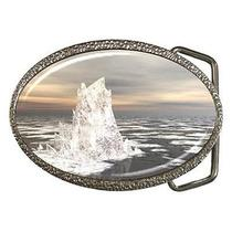 Fantasy Iceberg in Ocean Water Belt Buckle Photo