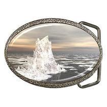 Fantasy Iceberg in Ocean Water Belt Buckle Photo