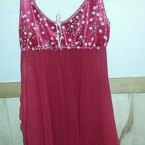 Fantasy Lingerie Red Sheer Nightie Size Medium Photo