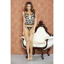 Fantasy Lingerie v-Plunge Corset With Matching G-String Photo