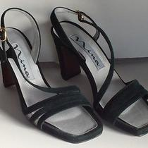 Fantasy ----Nina----Green Velvet Strappy Heelss - Size 7m ---- New Photo