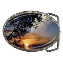 Fantasy Other World Sunset Belt Buckle Photo