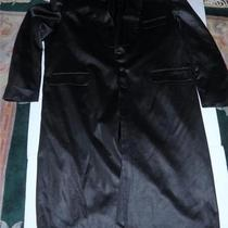 Fashion Designer Di Palma Black Wet Trench Coat Jacket Alternative Goth Rock Photo