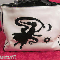 Fashion Express White W Black Lady Moon Star Hobo Tote Hand Bag Photo