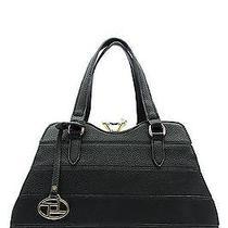 Fashion Handbag Purse Bag Trendy Diamond Satchel Shoulder Black - T0735st Photo