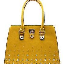 Fashion Handbag Purse Bag Trendy Stylish Decor Lock Tote Yellow Photo