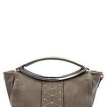 Fashion Handbag Purse Bag Trendy Stylish Designer Tote Gray - T337 Photo