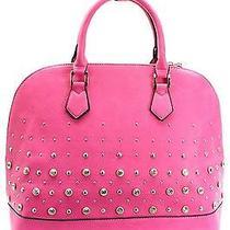 Fashion Handbag Purse Bag Trendy Stylish Fuchsia Hot Pink - T1012d Photo