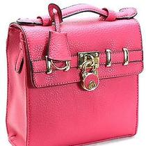 Fashion Handbag Purse Bag Trendy Stylish Fuchsia Hot Pink - T1119 Photo