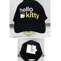 Fashion Hat Cap Baseball Strap Embroidered Hello Kitty Sanrio Black Child Photo
