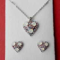 Fashion Heart Pendant Necklace With Swarovski Crystal  Perfect Gift N1235b Photo