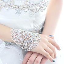 Fashion High-End Swarovski White Crystal Rhinestone Adjustable Bridal Bracelets Photo