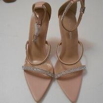 Fashion Nova Blush Pink W/silver Studs High Heel Open Toe Sexy Shoes-7.5-Nwot Photo