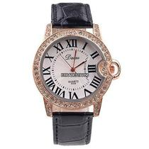 Fashion Roman Dial Rose Gold Bling Crystal Women Bracelet Quartz Lady Watch Etds Photo