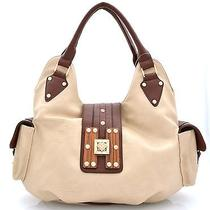Fashion Signature H-Wood Beige Hobo Photo