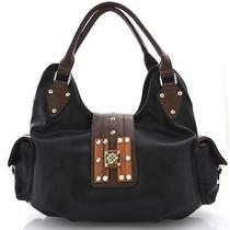 Fashion Signature H-Wood Black Hobo Photo