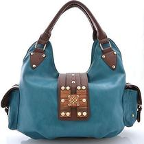 Fashion Signature H-Wood Blue Hobo Photo