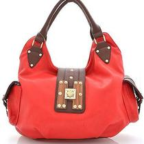 Fashion Signature H-Wood Red Hobo Photo