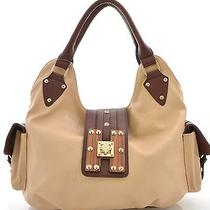 Fashion Signature H-Wood Tan/brown Hobo Photo