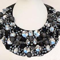 Fashion Sparkle Glass Prism Detachable Faux Collar Necklace Us Seller Fast Ship Photo