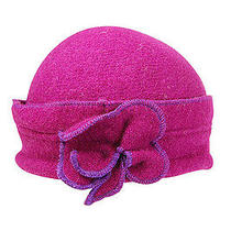 Fashion Trendy Accessories Lambs Wool Beanie With Clover Pink Photo