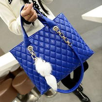 Fashion Vogue Lady Hobo Bag New Hot Pendant Embellished Bag Blue Women Handbag Photo