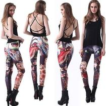 Fashion Woman Elsa/anna Printing Leggings Skinny Stretchy Jeggings Tights Pants Photo