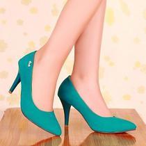 Fashion Womens Mary Jane Pointed Toe Stiletto High Heels Wedding Shoes Plus Size Photo