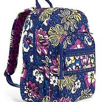 Fashionable Vera Bradley Campus Backpack in African Violet Photo