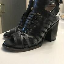 Fast Ship Mint Sz 6 Freebird by Steven Bongo Black Leather Booties Sandals Photo