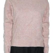 Fat Face Women Sweater Blush Pink Size 2 Ribbed Knit Mock Neck Pullover 55 597 Photo