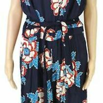 Fat Face Womens Jumpsuit Blue Red Size 10 Japanese Bloom Floral Belted 85 658 Photo